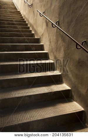 Brown Vintage Stone Stairs