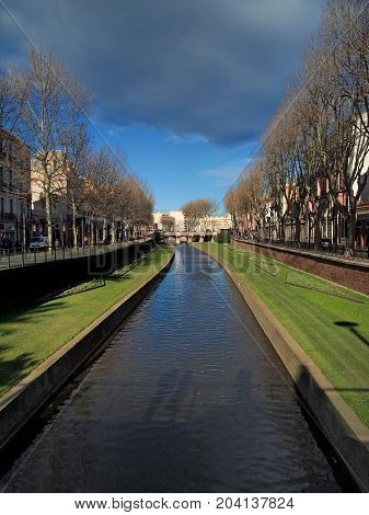 View of the Canal of Perpingnan France