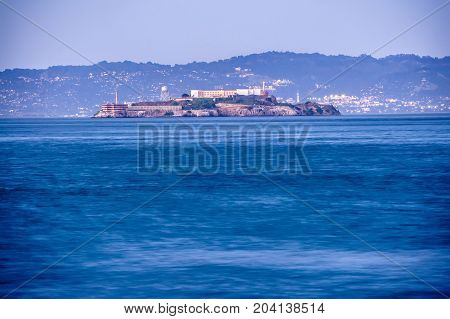 Alcatraz Historic Famous Jail In San Francisco Bay California