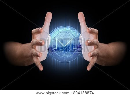 Hand Conjuring Cryptocurrency