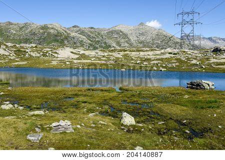 Mountain Landscape Of Gotthard Pass