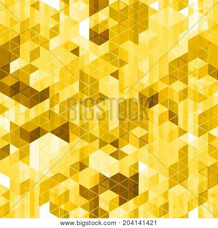 Abstract golden seamless pattern. Premium stock vector endless background.
