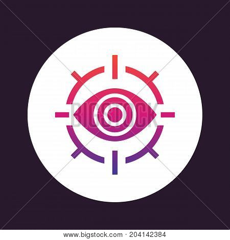 retina scan icon, eye scanner, eps 10 file, easy to edit