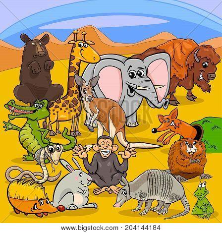 Cartoon Animal Characters Group