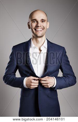 Cheerful Man Getting Ready