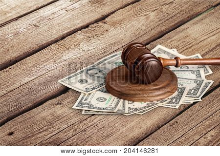 Table money wooden wood gavel background object