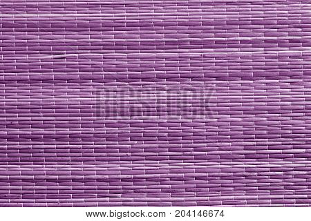 Purple Color Straw Mat Surface.