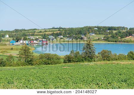 Fishing village French RIver Prince Edward Island Canada