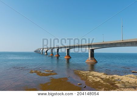 Confederation Bridge connecting Prince Edward Island and New Brunswick Canada