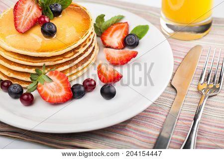 Cake tasty fruits pancake pancakes yellow white