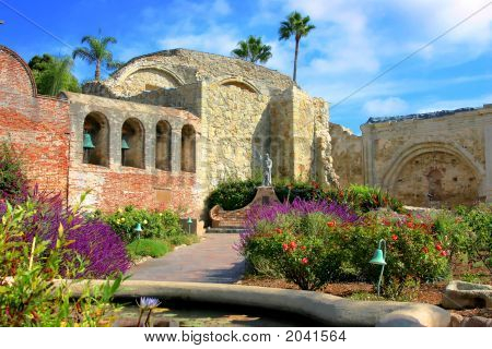 The Courtyard At Mission San Juan Capistrano