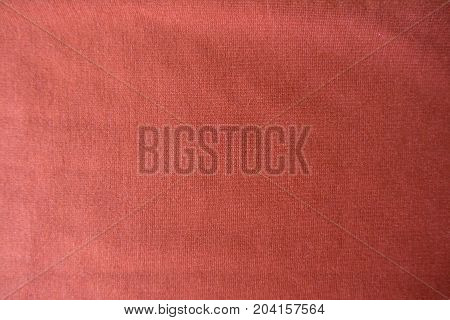 Pale Orange Unprinted Viscose Fabric From Above