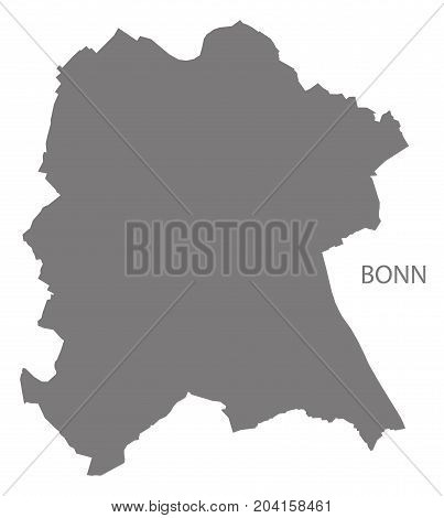 Bonn City Map Grey Illustration Silhouette Shape