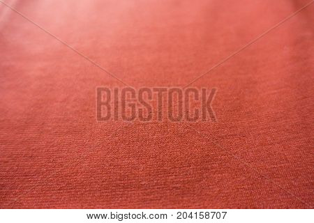 Reddish Orange Plain Viscose Jersey Fabric Surface