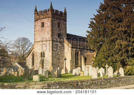 Holy Trinity Church Ashford in the Water near Bakewell Derbyshire