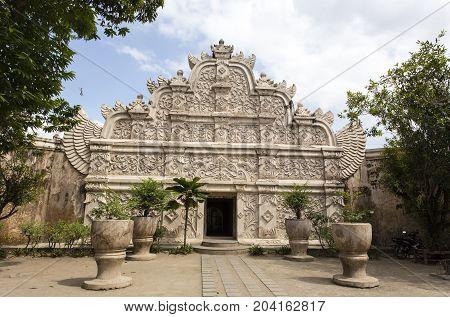 Sultan palace entrance in jogjakarta in Indonesia
