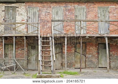 Two floors of old abandoned lumber rooms