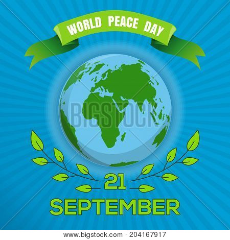 World Peace Day. September 21. Poster design for International Day of Peace. Vector illustration