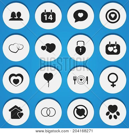 Set Of 16 Editable Amour Icons. Includes Symbols Such As Dartboard, Plate, Proclamation And More