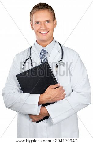 Doctor physician smiling gp md surgeon medical doctor