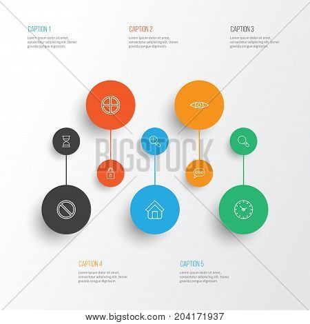 Network Icons Set. Collection Of Estate, Research, Message Bubble And Other Elements