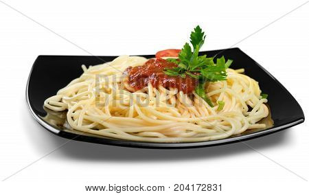 Spaghetti pasta plate food bowl dish italian
