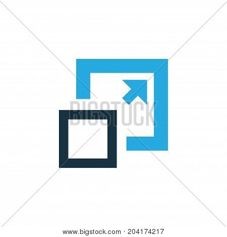 Premium Quality Isolated Maximize Element In Trendy Style.  Enlarge Colorful Icon Symbol.