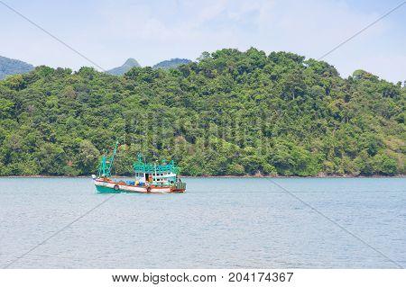 Small fishing boats at Chang island. Thailand