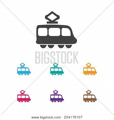 Vector Illustration Of Shipment Symbol On Tramway Icon