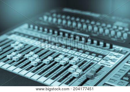 audio mixer music equipment in black tone