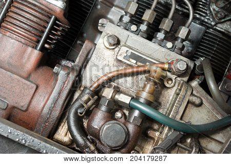 automobile mechanism .Part of a car engine