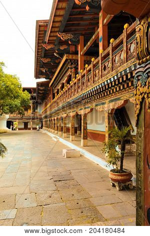 Punakha Dzong Temple (pungthang Dechen Phodrang Dzong - Palace Of Great Happiness), Bhutan.