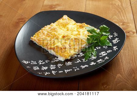 Omelet .Closeup .Shallow depth-of-field  , close up meal
