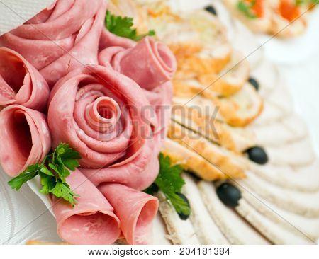 Sliced Food Arrangement
