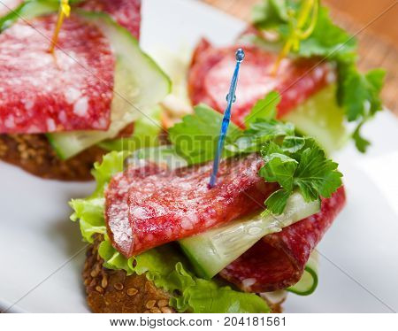 Canape With Salami And