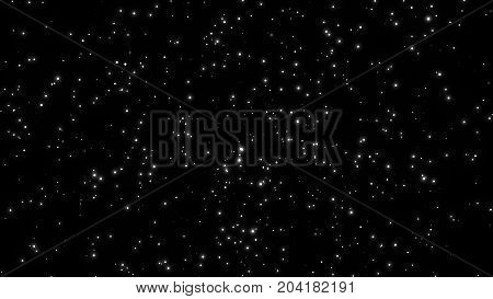 Abstract background with stars. Digital space backdrop. 3d rendering