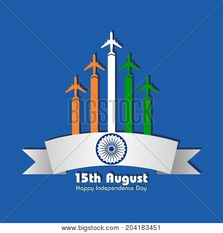 Illustration for independence day of india stock vector