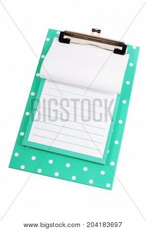 Clipboard With Sheet Isolated On White