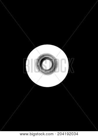Greyscale black white circle lamp light technology