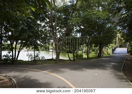 Sri Nakhon Khuean Khan Park And Botanical Garden Or Khung Bang Kachao Park At Samut Prakan, Thailand
