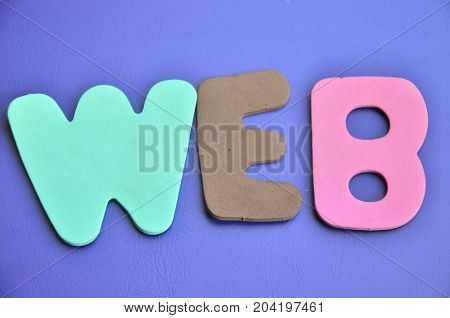 WORD WEB ON A  ABSTRACT COLORFUL BACKGROUND