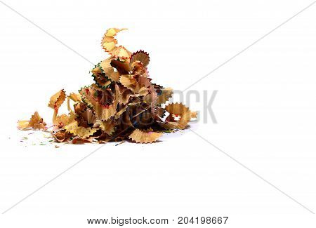 Stack Of Pencils Fraction On White Background Isolated