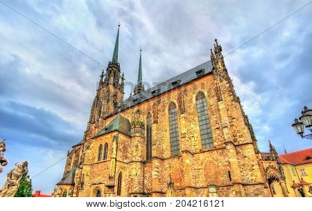The Cathedral of Saints Peter and Paul on the Petrov hill in Brno - Moravia, Czech Republic
