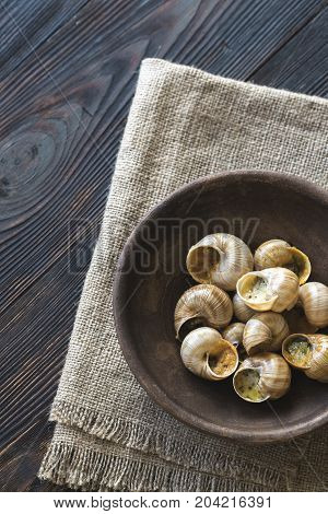 Bowl Of Cooked Snails