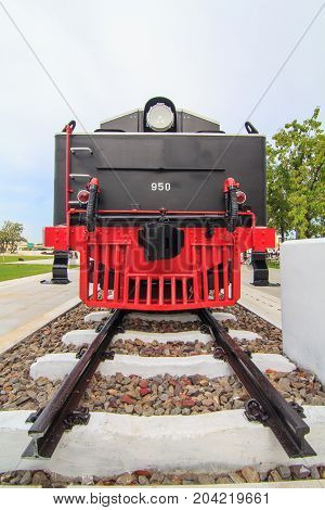 Bogie of old train in the public park