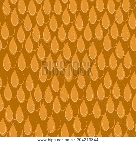 Seamless pattern with a lot of orange fish scales