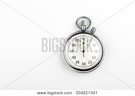 stopwatch on a white background, result, seconds, arrow, minute