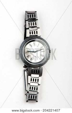 wrist watch, clock on white background, time, second