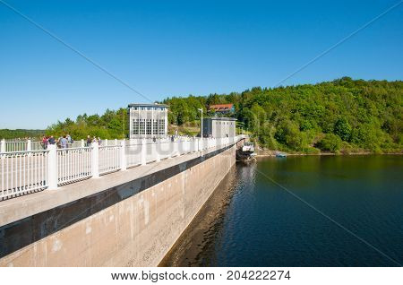 Rappbode  Dam And Reservoir In Germany