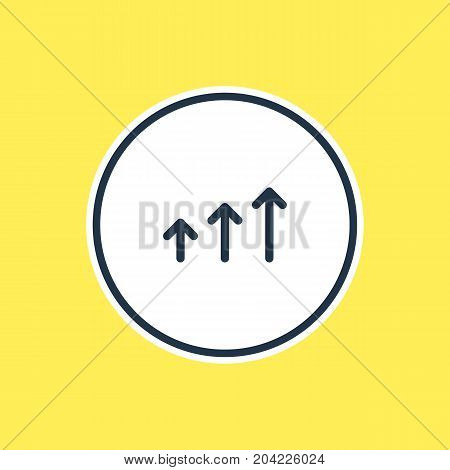 Beautiful Sign Element Also Can Be Used As Increase Element.  Vector Illustration Of Progress Outline.